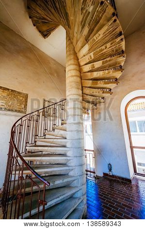 Zadar, Croatia - July 28, 2015: Interior Of Bell Tower Of Church Of St. Donat, Building From The 9Th