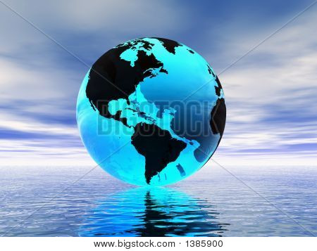 World Globe And Ocean