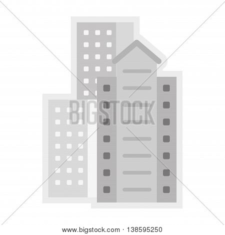 flat design residential or office buildings icon vector illustration