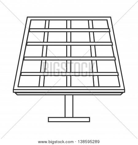 flat design solar panel icon vector illustration