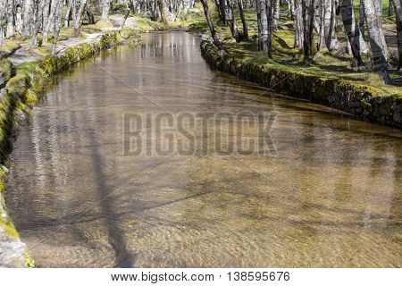 Covao d'ametade in the Serra da Estrela Natural Park. Portugal