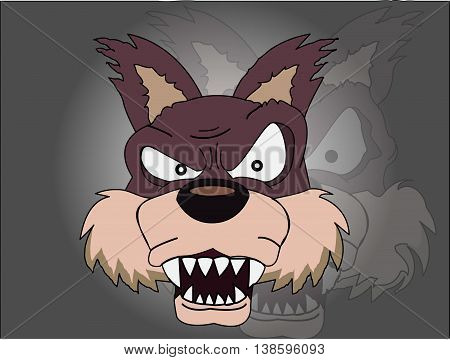 Wolf - Howling wolf in angry mood