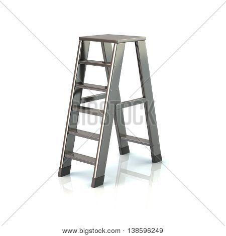 3D Illustration Of Silver Ladder