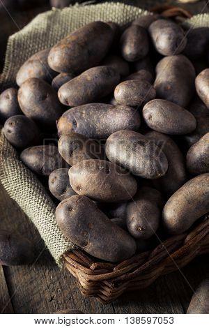 Raw Organic Purple Potatoes