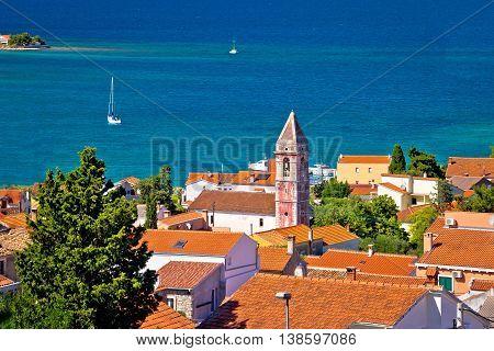 Island town of Preko coast view Ugljan Croatia