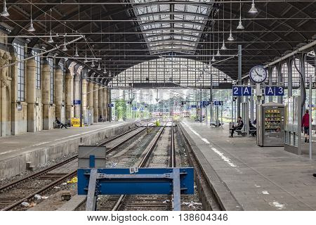 Train Station In Wiesbaden, Germany