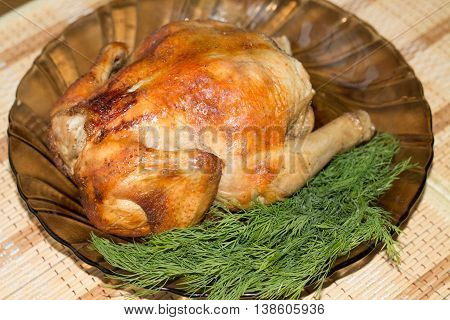 the chicken baked in an oven, oven, cooking, meat, poultry, chicken, cooked, roast,
