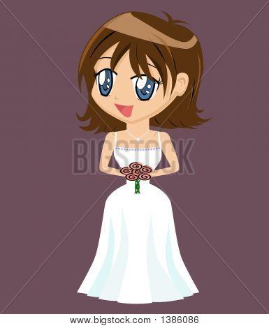 Cartoon Girl In Gown