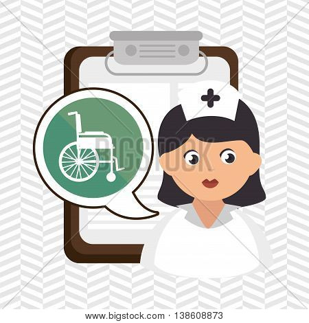 woman medical service icon isolated, vector illustration