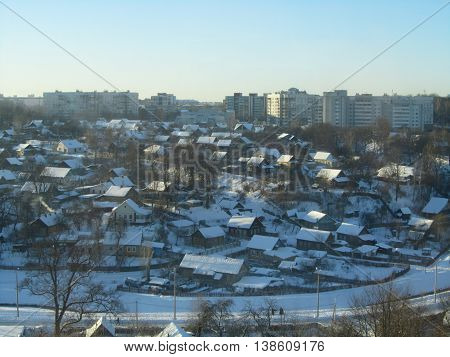 The private sector in the city in the winter
