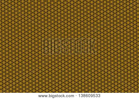 Yellow and brown regular chess pattern background.