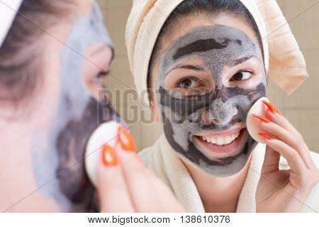 Girl With Facial Mask