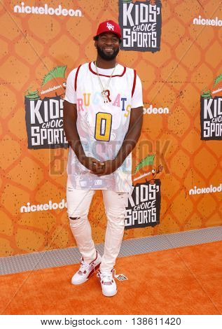 Andre Drummond at the Nickelodeon Kids' Choice Sports Awards 2016 held at the UCLA's Pauley Pavilion in Westwood, USA on July 14, 2016.