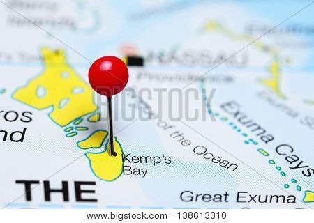Kemps Bay pinned on a map of Bahamas