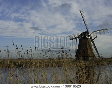 Dordrecht and the mills of kinderdijk in holland