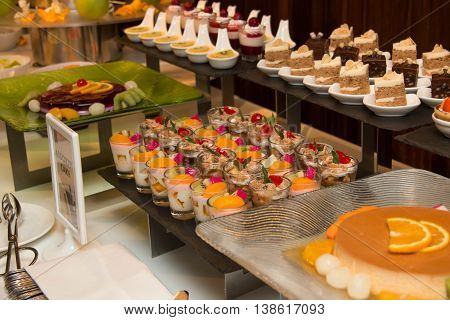 A Collection of delicious assorted mini dessert