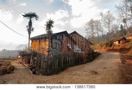 HA GIANG, VIETNAM, February 14, 2016 countryside landscape, high mountains Ha Giang, Vietnam