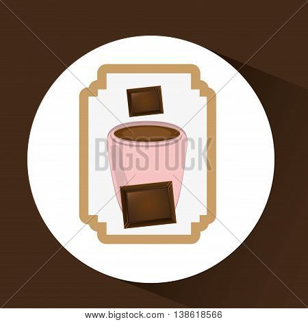 chocolate sugar desert   isolated, vector illustration eps10