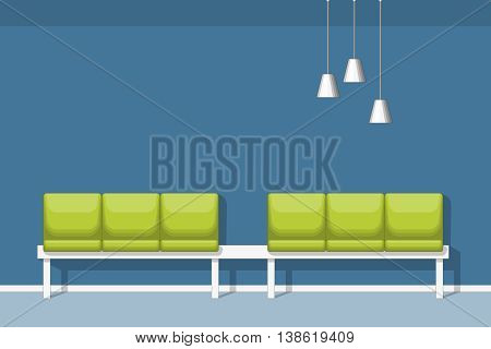 Illustration of a modern waiting room with chair