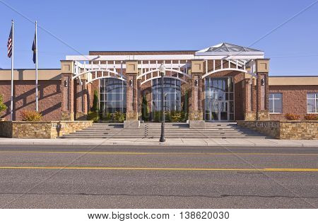 Umatilla Oregon city hall and library building.