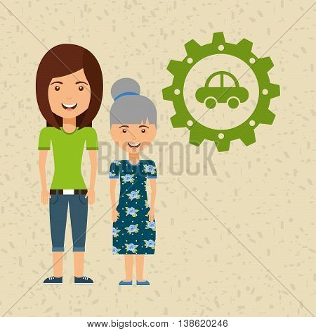 ecological family design, vector illustration eps10 graphic