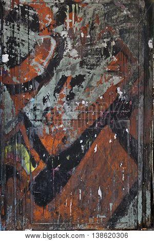 dark grunge textured rough graffiti wall background