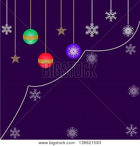 decorations for Christmas, Christmas balls and snowflakes