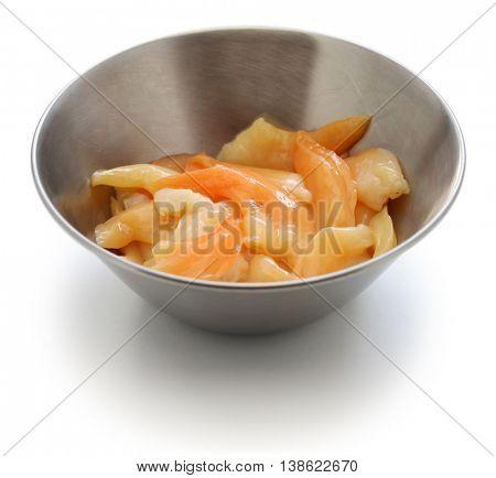 aoyagi, trough shell foot, japanese food