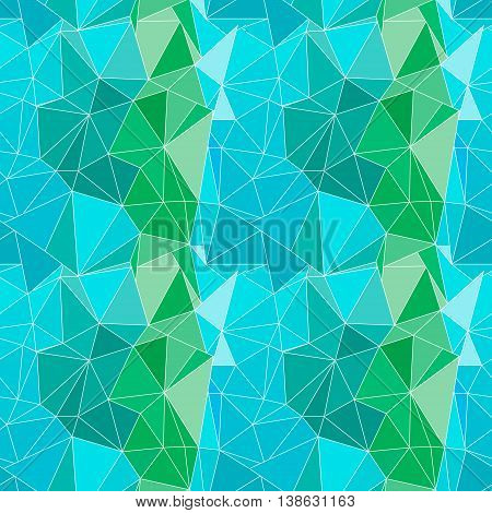 Seamless Vector Pattern. Abstract Background With Colorful Triangles.