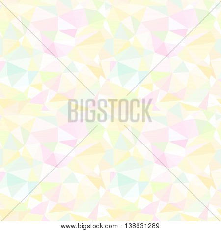 Seamless Vector Pattern. Abstract Light Background With Colorful Triangles.