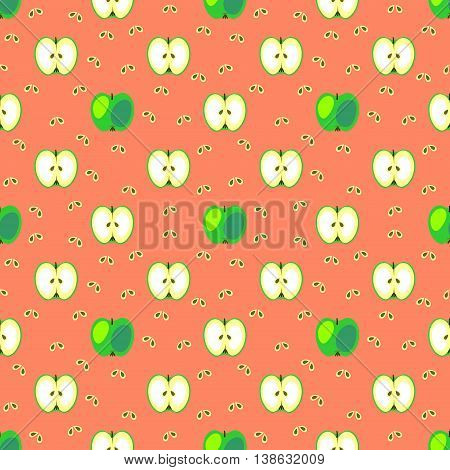 Seamless Fruits Vector Pattern