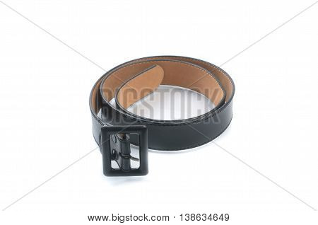 Belt or a black belt isolated on the background.
