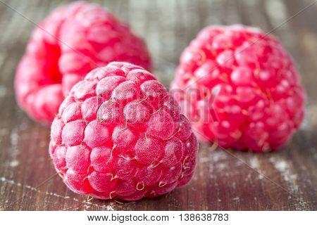 Macro Shot Of Ripe Raspberry