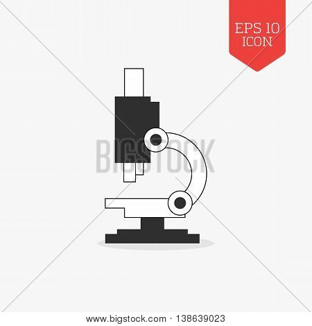 Microscope Icon. Flat Design Gray Color Symbol. Modern Ui Web Navigation, Sign.
