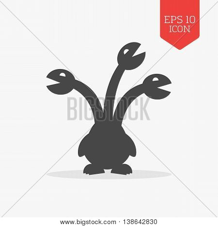 Hydra Icon, Mythical Creature.  Flat Design Gray Color Symbol. Modern Ui Web Navigation, Sign.