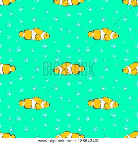 Seamless Vector Pattern With Fishes