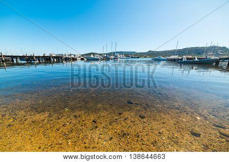 Cannigione harbor on a clear day Sardinia