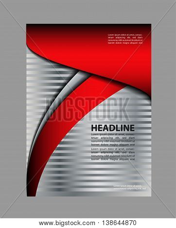 Presentation of flyer design content background abstract