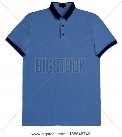 Polo shirt white isolated on white background