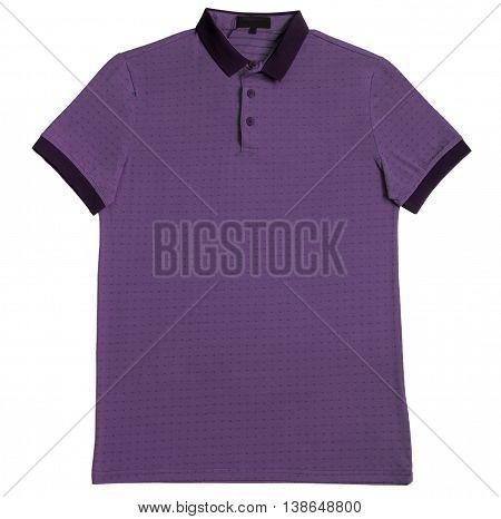 Polo shirt purple isolated on white background