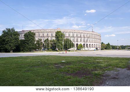 Nurnberg Bavaria / Germany - July 18th 2014: Congress Hall external view