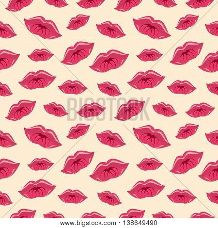 Seamless Vector Pattern With Lips