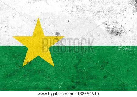 Flag Of Forsyth County, North Carolina, Usa, With A Vintage And