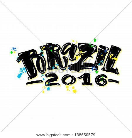 Brazil 2016 Hand Lettering