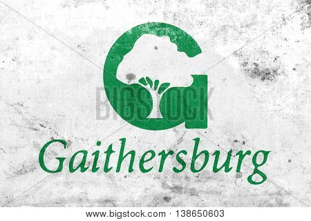 Flag Of Gaithersburg, Maryland, Usa, With A Vintage And Old Look