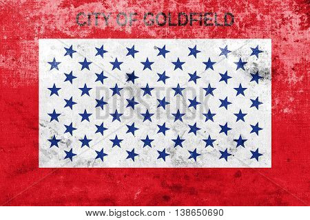 Flag Of Goldfield, Colorado, Usa, With A Vintage And Old Look