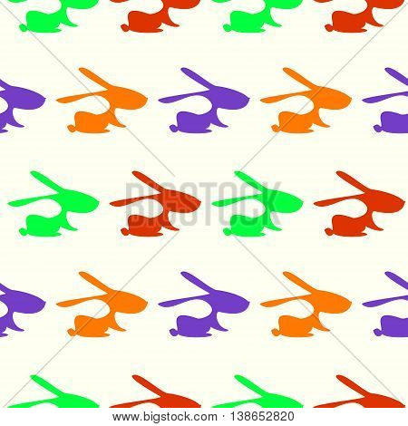 Seamless Vector Pattern With Rabbits