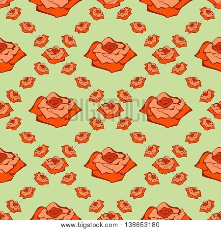 Seamless Vector Pattern With Rose