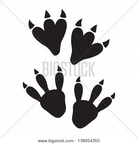 Paw print. Black animal paw print eps 10
