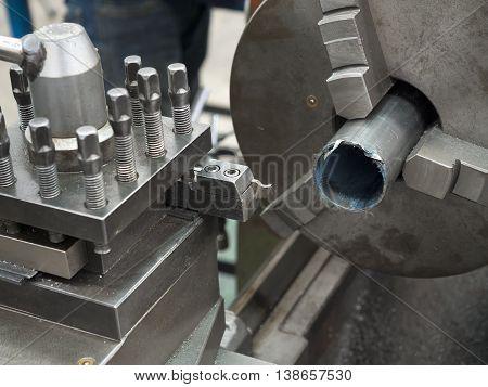 Turning Part By Manual Lathe Machine